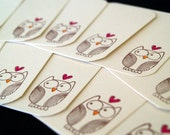 Set of 12 Mini Note Cards - Owl Love You