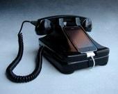 iRetrofone - iPhone phone - docking station -Classic - Black