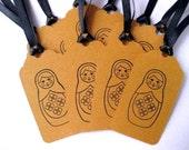 Matrioshka Russian Nesting Doll Gift/Package Tags Set of 10