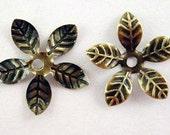 Nickel Free Antique Bronze Flower, Flexible Filigree Bead Caps, Iron, 15mm, FORTY