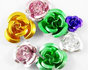 Variety of beautiful metal colors and sizes, Aluminum Roses, HUNDRED