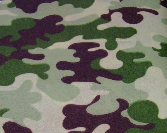 Green Camouflage Cotton Fabric