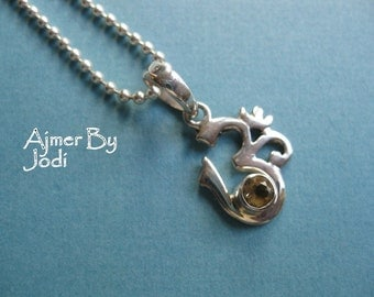 om ohm STERLING SILVER with citrine