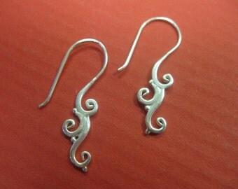 Sterling Silver Spiral Swirls ~ Celebrate the Goddess in you with these petite, charming earrings! Free Shipping in the US!