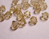 Crystal 6mm Bicone 60 pcs AA quality --sparkle soft smoky quartz