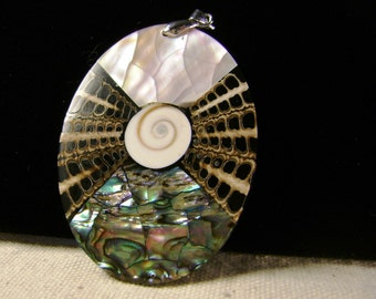 Natural abalone,mother of pearl mix seashell pendant 1 pcs,SP-14