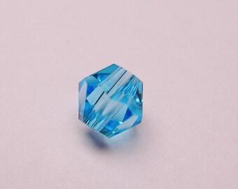 Crystal 4mm Bicone 100 pcs AA quality --sparkle aqua blue