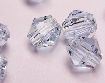 Crystal 4mm Bicone 100 pcs AA quality --sparkle soft light topaz blue