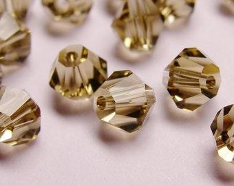 Crystal 4mm Bicone 100 pcs AA quality --sparkle dark smoky quartz