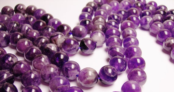 amethyst gemstone 12mm round beads,full strand