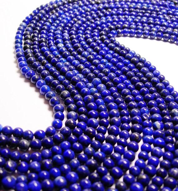 Lapis lazuli 6mm round 1 full strand 62 beads