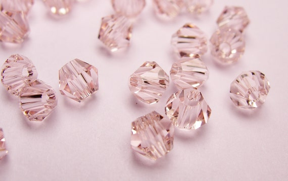 Crystal 4mm Bicone 100 pcs AA quality --sparkle soft  pink