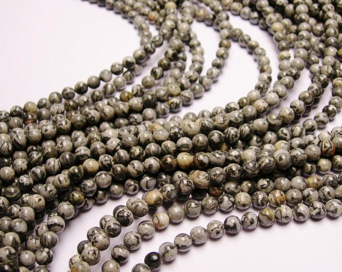 1 full strand Picasso Jasper 6mm - 63 beads per strand - RFG336
