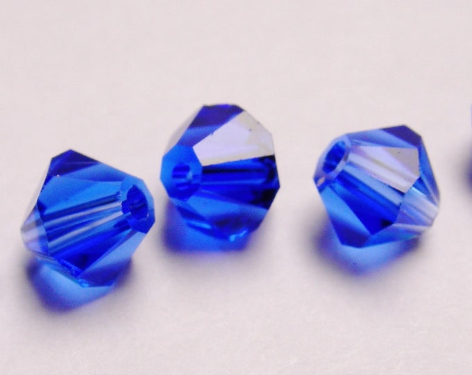 Crystal 6mm Bicone 60 pcs AA quality --sparkle classic royal blue