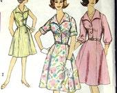 1960s Fabulous V-Neck Shirtwaist - Vintage Simplicity 4478 Slenderette Sewing Pattern - Bust 37
