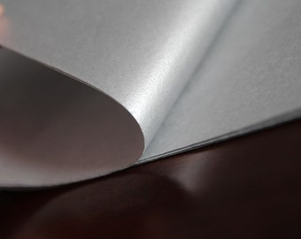 Silver - One Set of 20X30'' Metallic One Side Tissue Paper, 12 sheets