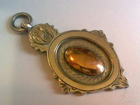 RESERVED FOR KIM...Sterling Silver Gold Fob... Full British Hallmarks for 1923