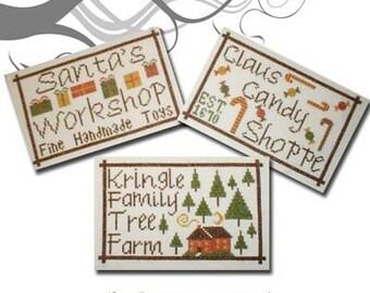 PDF E pattern emailed  3 Christmas Designs Cross Stitch Patterns 58