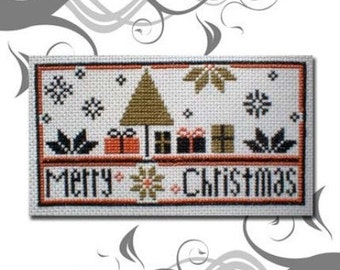 PDF E pattern emailed Quaker Primitive Christmas Cross Stitch Pattern 53