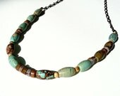 Turquoise Necklace Barrel