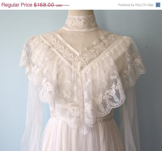 20 off sale 1970s gunne sax wedding dress vintage for 1970s wedding dresses for sale