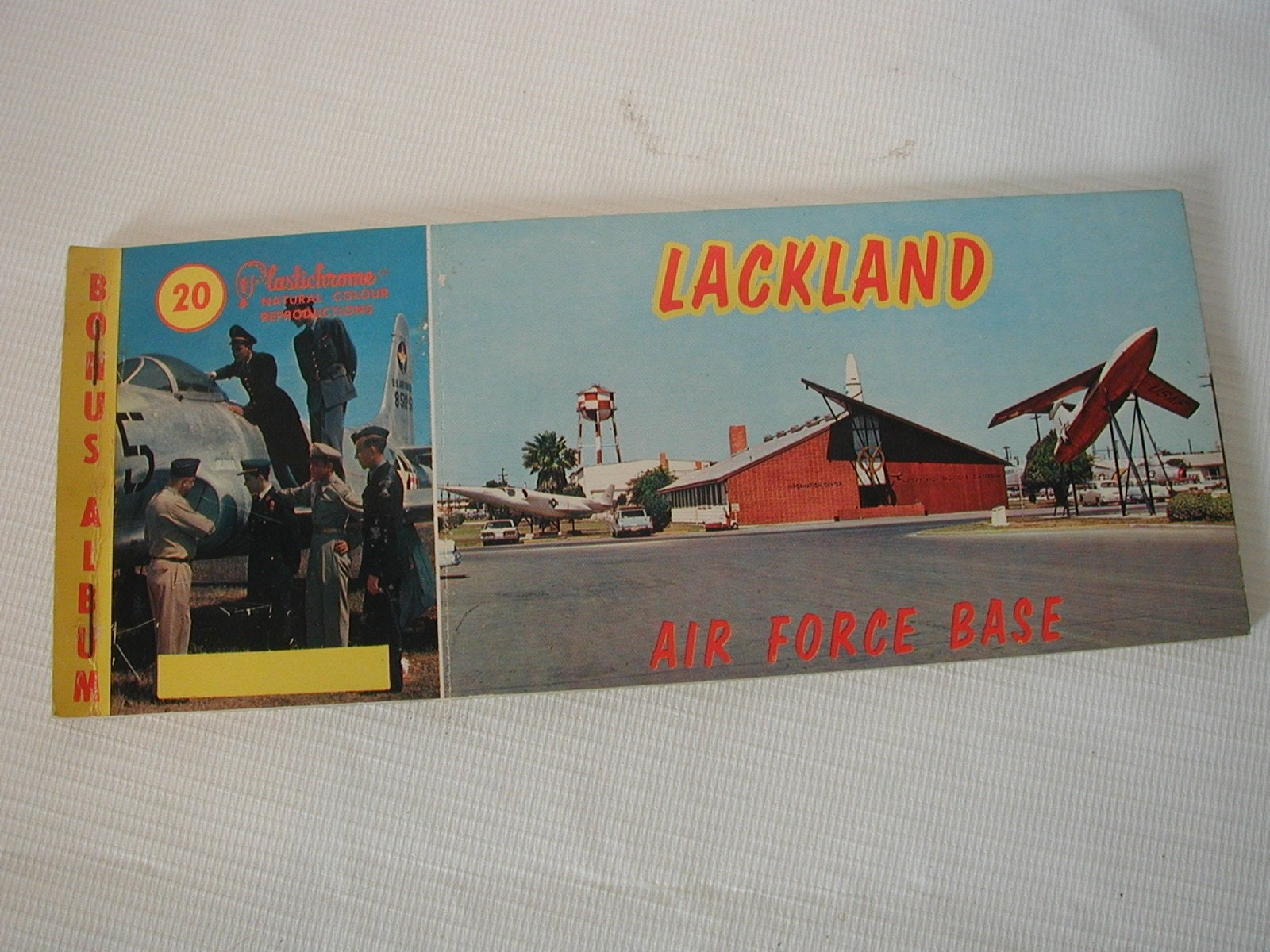 Vintage Lackland Air Force Base Postcard Book 10 Unused