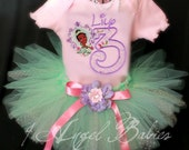 3 Piece Disney Pink Princess Tiana Princess and the Frog Inspired Glitter Tutu Girls Birthday Outfit Choose Your Size