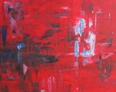Red Abstract Original Painting -Rosie's Love 30 x 40