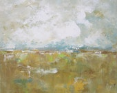 Original Abstract Landscape Painting -Summer Landscape 12 x 12