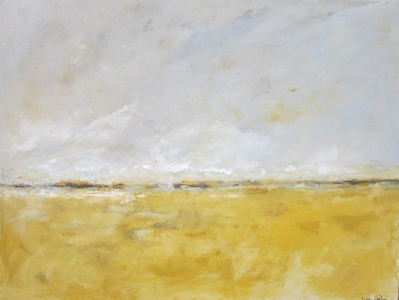 Abstract Landscape Ocean Painting -Sunday Morning 40 x 30