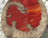 Original Handmade Dragon on Stained glass Sun Catcher