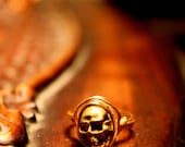 recycled bullet casing skull ring