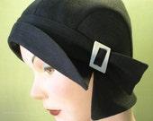 Black Asymmetrical Cloche by Zazu and Violets hats