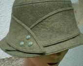 Sage Green Femme Fedora by Zazu and Violets hats