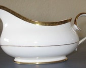 Fine English Bone China Gravy Boat