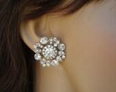 Bridal Earrings,Stud Earrings,Bridal Rhinestone Earrings,Rhinestone Stud Earrings,Bridal Jewelry,Rhinestone Earrings,Stud,Rhinestone,COLLEEN