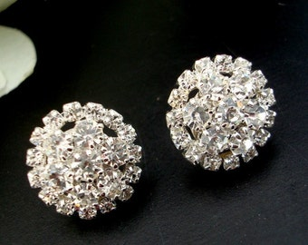 Bridal Rhinestone Stud Earrings, Wedding Rhinestone Earrings, Vintage Wedding Bridal Rhinestone Earrings, Stud, Wedding Jewelry, BRITNEY