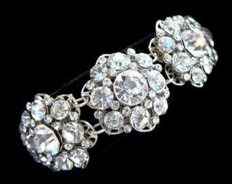 Bridal Rhinestone Bracelet swarovski crystal Bridal Bracelet Statement Bridal Bracelet Wedding Rhinestone Bracelet wedding Bracelet SUSAN