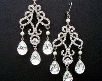 Bridal crystal Chandelier Earrings Rhinestone Statement crystal Bridal Earrings Rhinestone Earrings Wedding Rhinestone Earrings GIOVANNA