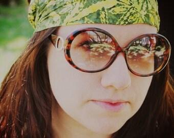 Weed Garden Batik Gypsy Wrap, size M - yoga headband, dread wrap:  Gypsy Wraps by Julie Bartel