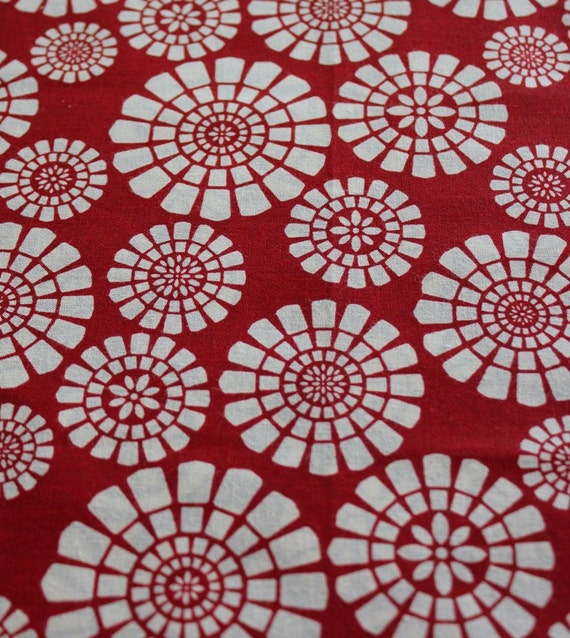 Red Wheel Gypsy Wrap, size L - dreadlock wrap, yoga headband, hair wrap