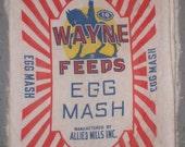 Vintage Wayne Feed Sack