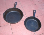 Two Cast Iron Frying Pans - collection S