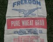 Vintage Freedom Feed Sack