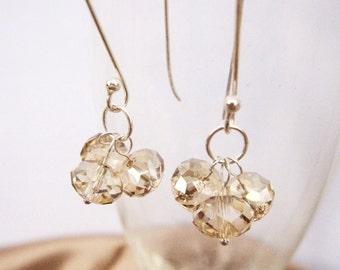 Champagne Bubbles Sterling Dangle Earrings