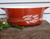 Vintage Autumn Harvest Pyrex Casserole Dish