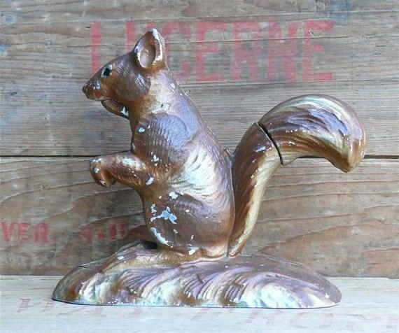 Vintage Metal Squirrel Nutcracker