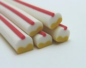 S157 Yummy Sweet Dessert - Whipped Cream Cupcake - Polymer Clay Cane for Miniature Food Deco and Nail Art