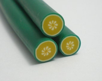 S091 Fruit - Lemon Lime - Polymer Clay Cane for Miniature Food Deco and Nail Art