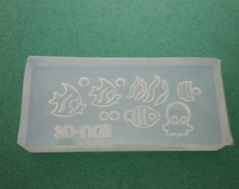M15 Flexible Mold/Mould - 7 in 1 - Little Aquarium for Making Miniature Food / Doll House Deco / Jewelry Making /Nail Art